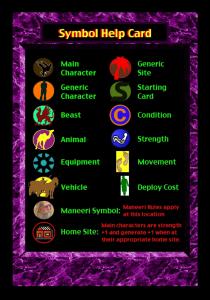 Symbol Help Card (PURPLE)